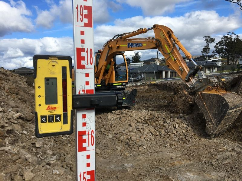 Leveling a Home building site in Newcastle