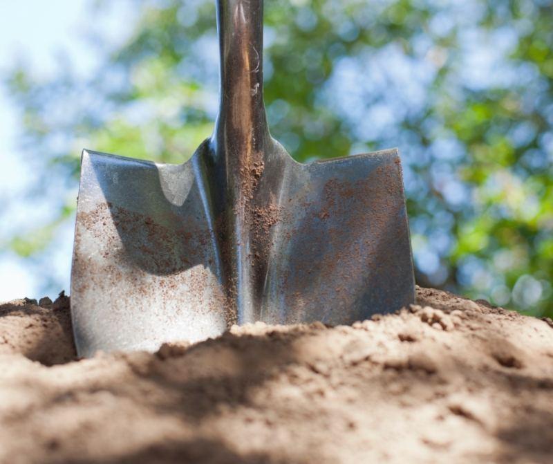 Shovel Digging Soil