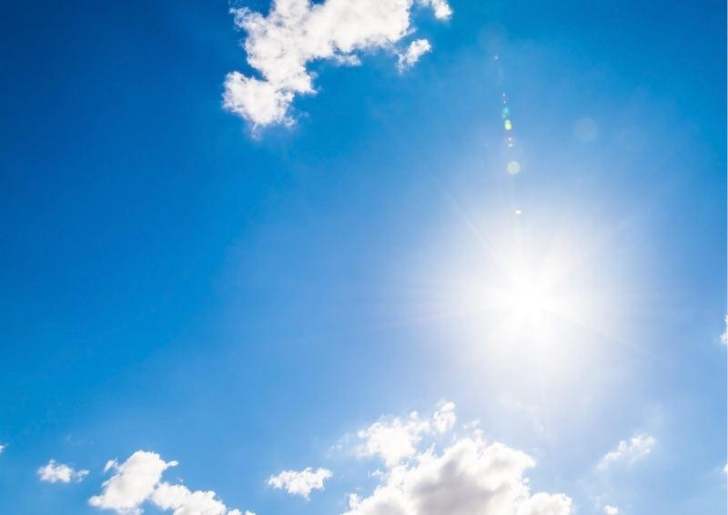 Lovely blue sky in the Hunter Valley
