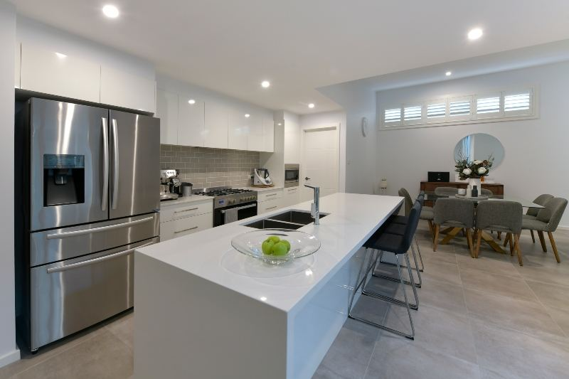 Kitchen in a project home by Hunter designer homes