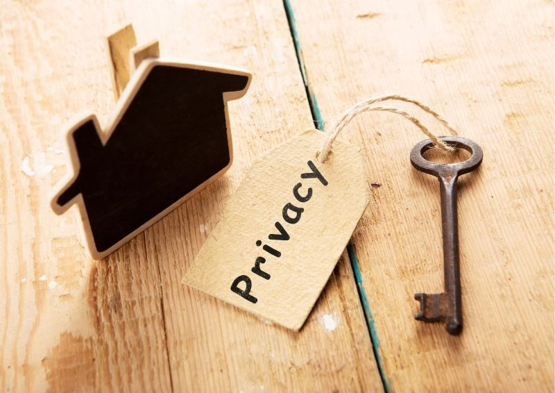 Old Key with Privacy Tag & House