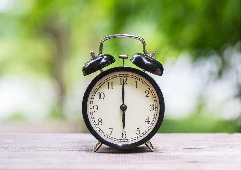 Black Old Fashioned Alarm Clock