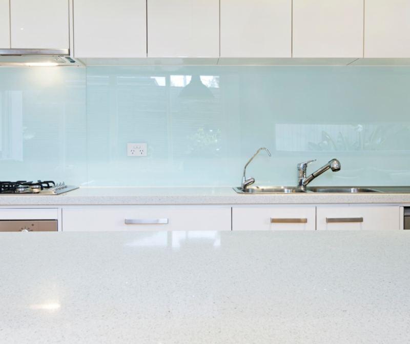 Splash back in kitchen