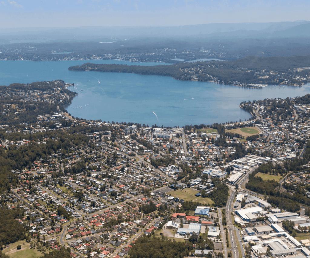 Birds Eye View of Lake Macquarie