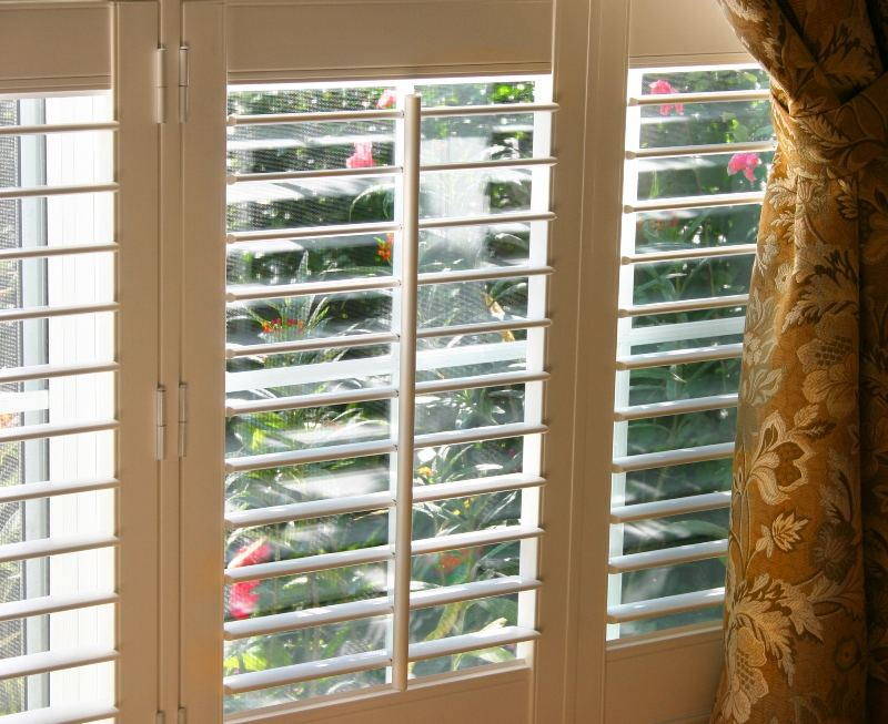Indoor white painted Shutters