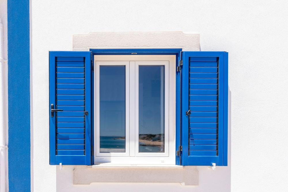 Window Shutters Blue